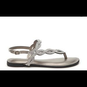 Kelly and Katie flat sandals with rhinestones
